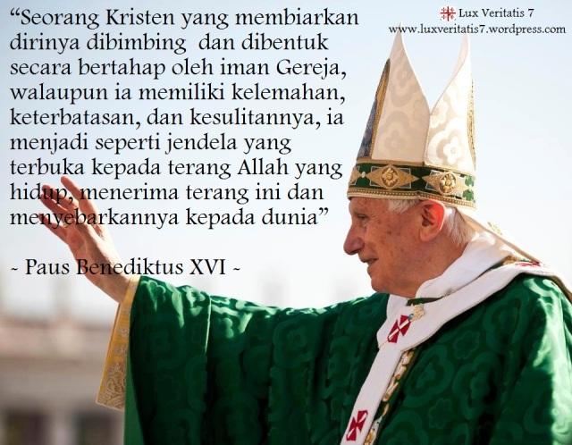 Quote Paus Benediktus XVI 1