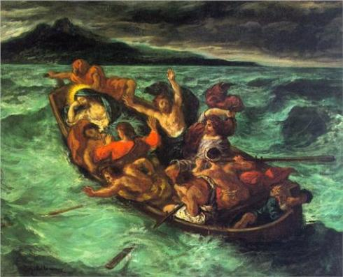 Christ on The Lake of Gennezaret byEugene Delacroix