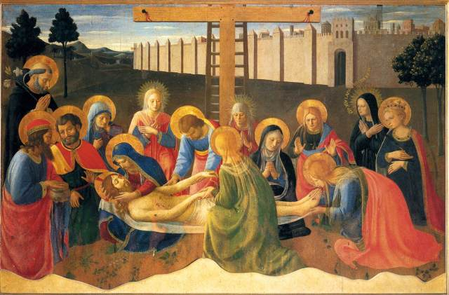 """Lamentation over Christ"", 1441, Fra Angelico OP."