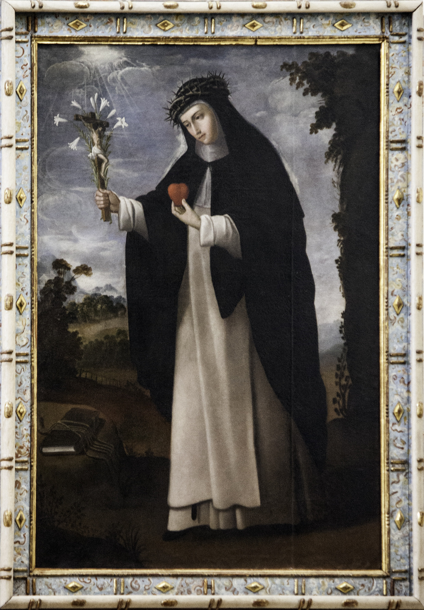 This painting of the saint is from St Dominic's church in Caleruega, Spain. - photo by Fr. Lawrence Lew, O.P.